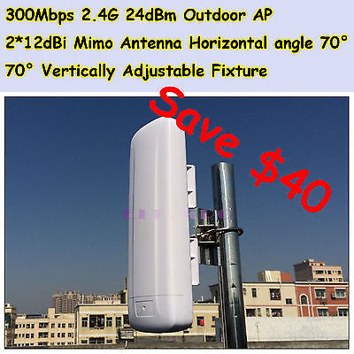 Jupiter_R2412M 300Mbps 2.4G Outdoor WiFi Router AP Repeater Bridge CPE PoE 2*Lan