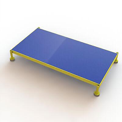Steel Work Platform Wadjustable Height Yellow 48inlx24inwx9in-14inh 800lb Cap