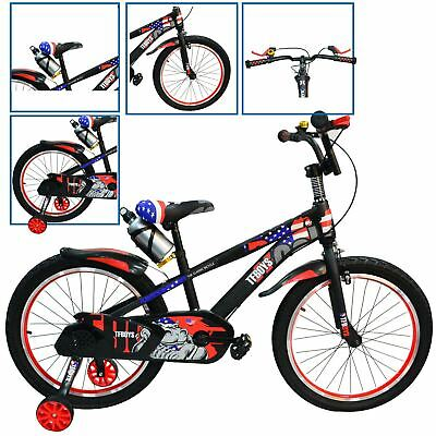 "Kids 12"" 16"" 20"" Bike Stabilisers Motorcycle Boys Bicycle Children Cycle Gift"