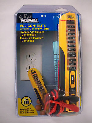 Ideal Vol-con Elite Voltagecontinuity Tester 61-092 New