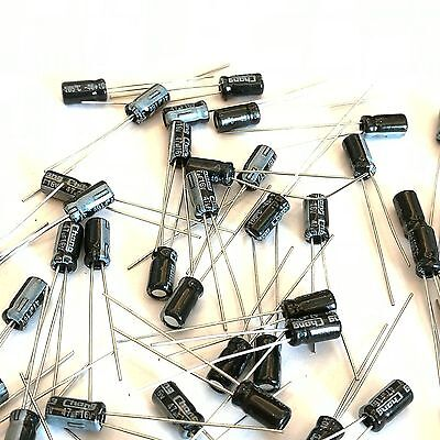 Us Stock 100pcs Electrolytic Capacitors 47uf 47mfd 16v 105 Radial 4 X 8mm
