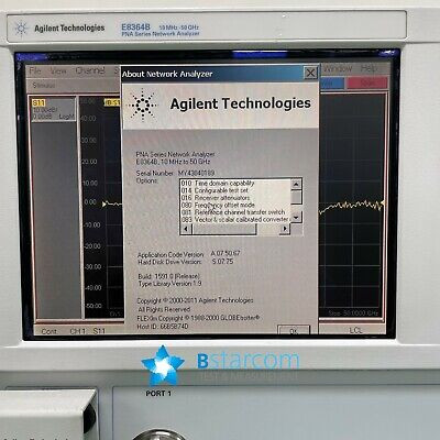 Agilent E8364b Pna Network Analyzer50ghz-010014016080081083h11p02unl