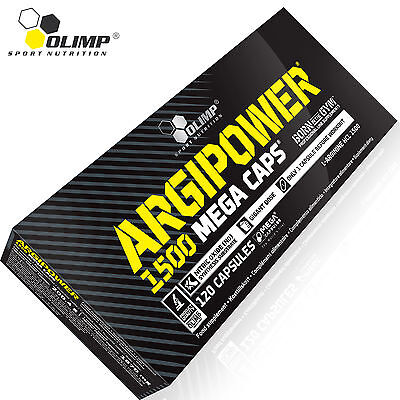 ARGIPOWER120 Caps. MASSIVE DOSE L-ARGININE 1500 mg Nitric Oxide PUMP Booster