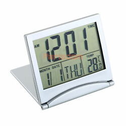 Digital LCD Folding Weather Station Desk Temperature Travel Alarm Clock NT5