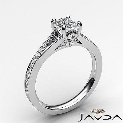 Split Shank Pave Setting Cushion Shape Diamond Engagement Ring GIA F VS1 0.68Ct 1