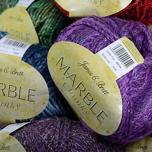 James-C-Brett-Marble-Chunky-200g-Knitting-Wool-LATEST-SHADES