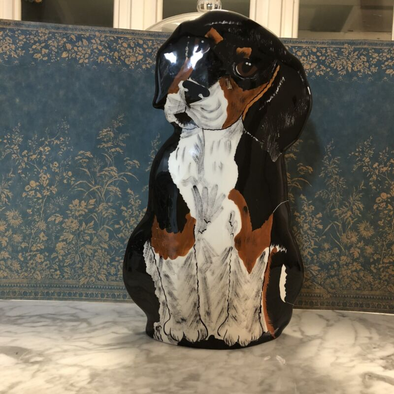 NINA LYMAN DOGS BY NINA GREATER SWISS MOUNTAIN DOG / BURNESE MOUNTAIN DOG VASE