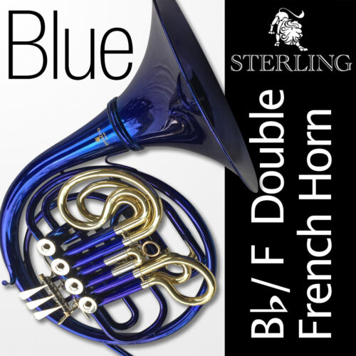 BLUE Bb/F Sterling Double French Horn • Highest Quality • Brand New • FREE SHIP