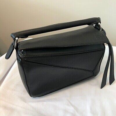 Loewe Mini Puzzle Bag Black Crossbody Handbag