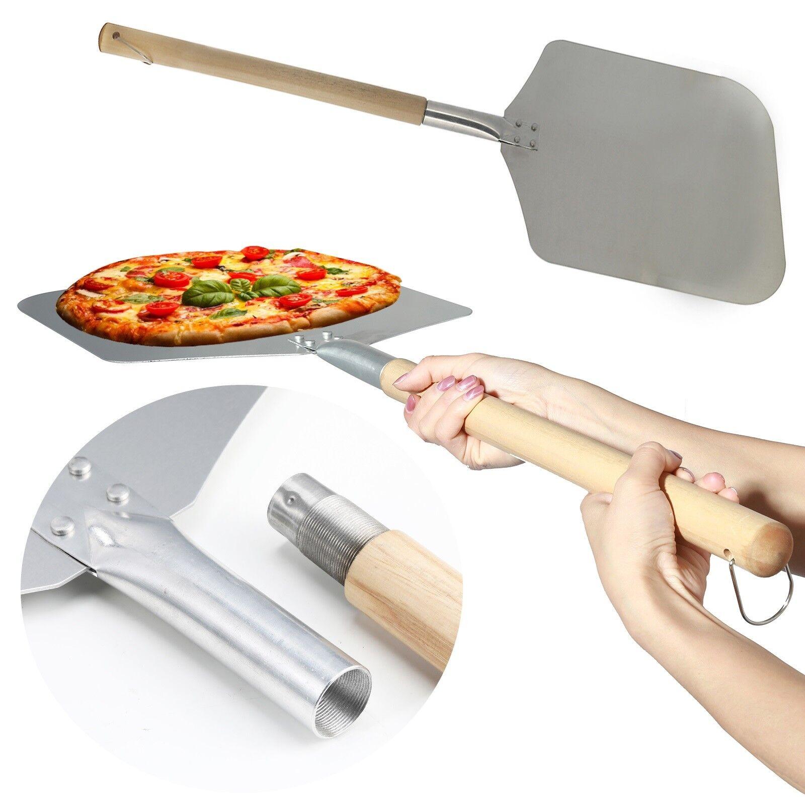 Pizza Schaufel 85 cm Heber Schieber Alu 35 x 30 cm Brot Backen Ofen Grill Griff