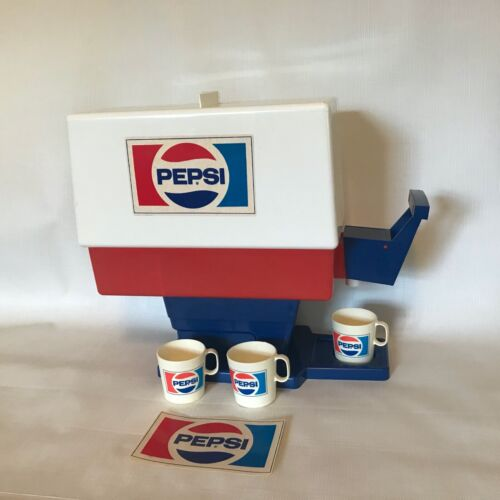 Vintage Chilton Pepsi Cola Soda Fountain Drink Dispenser Advertising Toy Cups