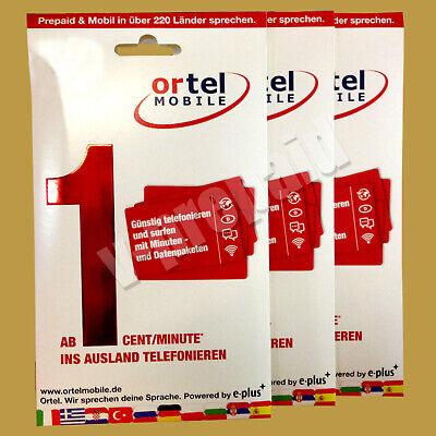 Gebraucht, 0178 48 999 33 Ortel Mobile wie O2 ePlus Prepaid Sim Karte 22€ Guthaben  gebraucht kaufen  Leipzig