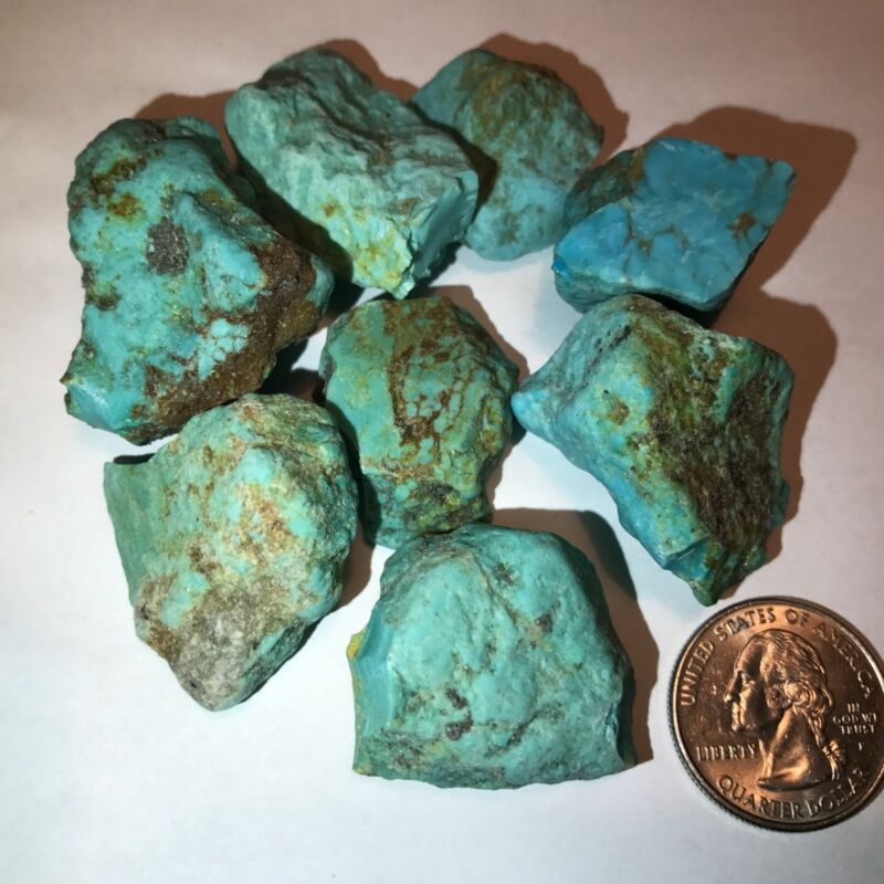 SLEEPING BEAUTY TURQUOISE NUGGETS ROUGH - 1/4 POUND LOT - VERY HIGH QUALITY