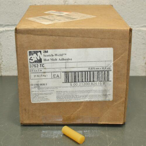 "(605) 3M Hot Melt Adhesive 3762 TC, 5/8"" x 2"", Tan, Glue Stick, for Paper, Wood"
