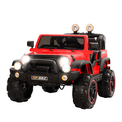 12V Battery Kids Ride on Cars Electric Power Remote Control 2 Speed Jeep Red