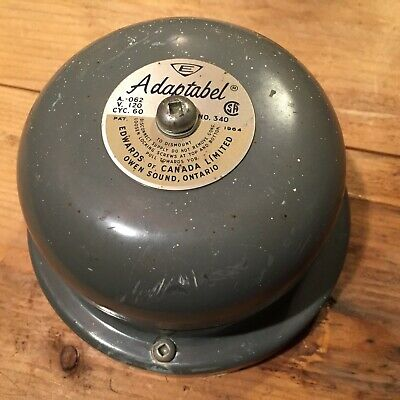 Edwards Co. Adaptabel Alarm Bell Model 340 4-14 Dia. Gong