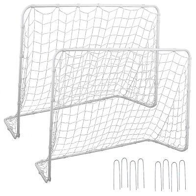 2Pack 6x4 FT Post Net Steel Frame Soccer Goal Practice Football w/Durable Net - Foot Ball Goal Post