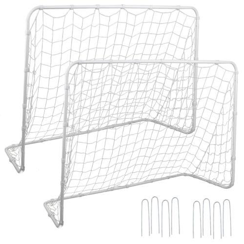 6×4 FT Post 2 Pack Soccer Goal Practice Football Net Steel Frame w/Durable Net Goals & Nets