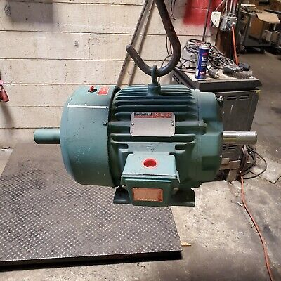 Rebuilt Reliance 10 Hp Electric Ac Motor 230460 Vac 1755 Rpm 3 Phase 215t Frame