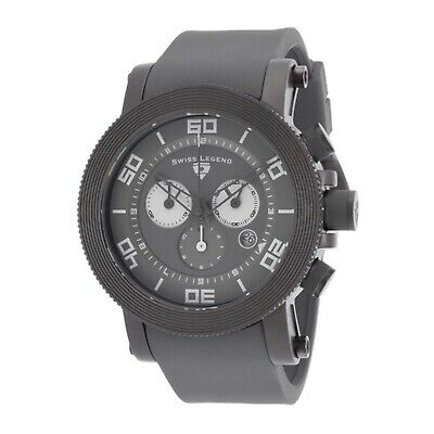 NEW Swiss Legend 30465-GM-014 Men's Cyclone Watch Chronograph Gray SS Case Dial Chronograph Ss Case