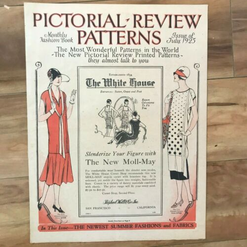 1925 July Vintage Pattern Catalogue PICTORIAL REVIEW PATTERNS 16 Pg Flapper Era