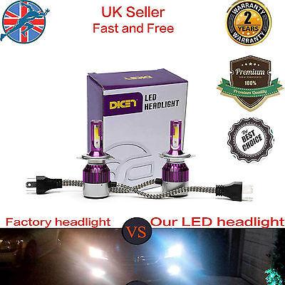 80W H4/9003/HB2 Hi/Lo Beam LED Headlight Car Conversion Bulb 6000K KIT White New