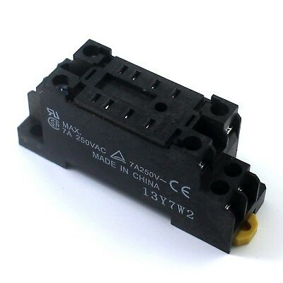 2Pcs 8 Pin Socket Base For Relay MY2NJ 12V ~ 220V 8 Pin Relay Socket