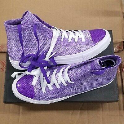 - Converse Chuck Taylor All Star Flyknit Lunarlon Hi Hyper Purple Palest Purple