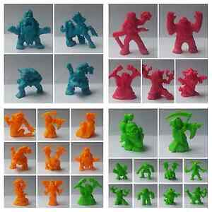 Monster-in-my-pocket-MIMP-series-2-Figure-colors-green-orange-cyan-magent