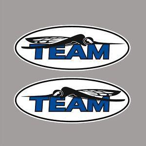 SKEETER BLUE Boats TEAM Logo / 2 PACK / Oval Vinyl Vehicle Watercraft Decals