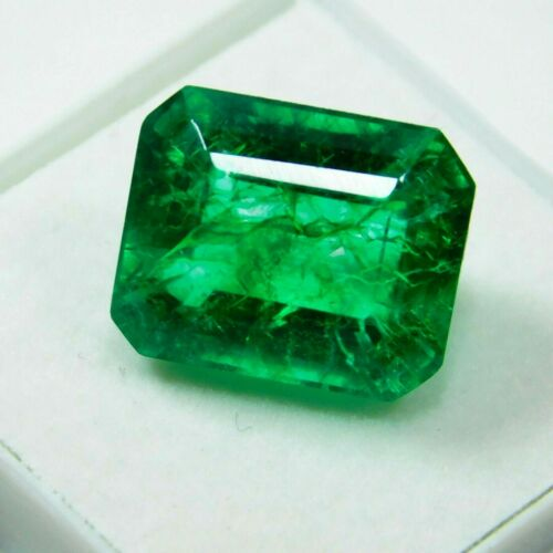 7 Ct Natural Untreated Green Colombian Emerald Emerald Certified Loose Gemstones