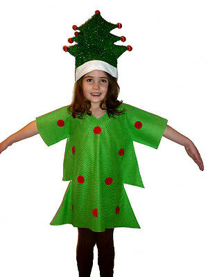 CHRISTMAS TREE KIDS FANCY DRESS COSTUME NATIVITY PLAY (Tree Dress Up Costume)
