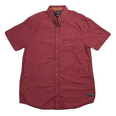 Billabong Men's Medium Button Up Shirt Red