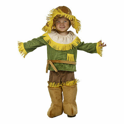 Child Toddler's Wizard Of Oz Cuddly Scarecrow Halloween Costume Shirt Pants Hat (Toddler Scarecrow Hat)
