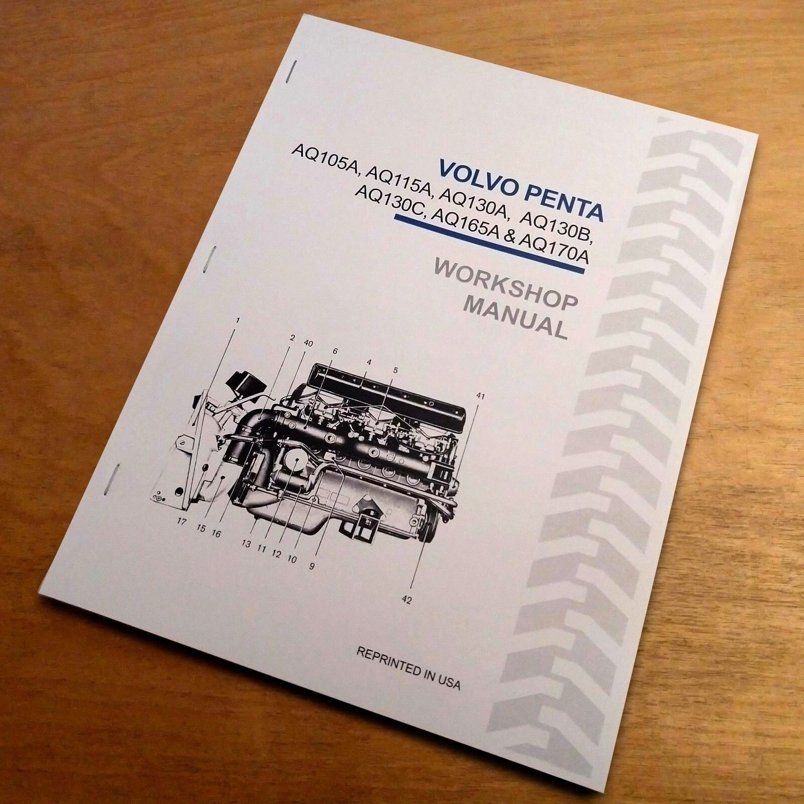 Volvo Penta AQ105A AQ115A AQ130A AQ130B AQ130C AQ165A AQ170A Service Shop Manual