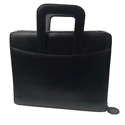 Franklin Covey Simulated Leather Zipper 7 Ring Binder With Handles 11 X 13