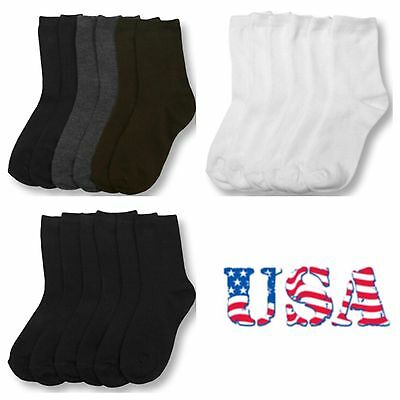 Kids Girl Boy Women Socks Lot Crew Ankle Toddler 0-12 4-6 6-8 9-11 Unisex Socks