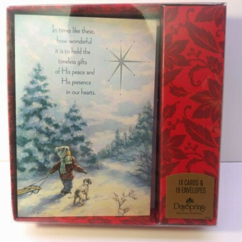 NEW DaySpring 18 Cards - Religious Christian Christmas Cards Boxed w/Bible Verse