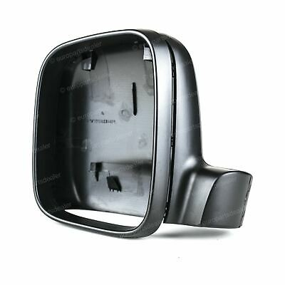 Left Passenger near side Black Wing mirror Frame and Cover for VW T5 03 - 10
