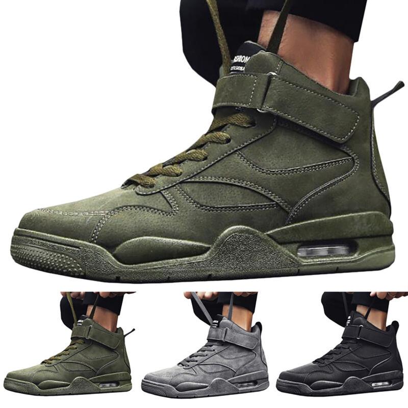 Herren High-Top Sneaker Stiefel Turnschuhe Sports Basketball Schuhe Schnürschuhe