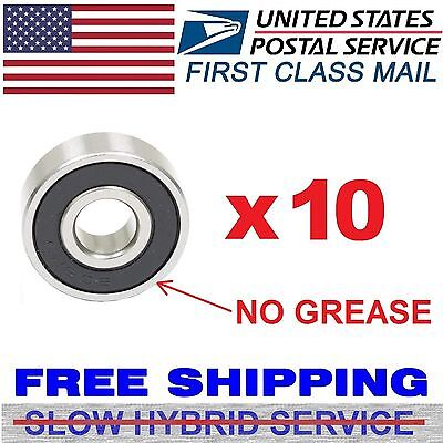 10pcs 608-2rs Skate Metric Ball Rubber Seal Bearings Fidget Spinner No Grease
