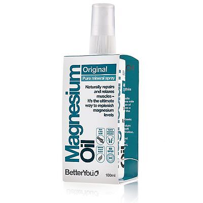 BetterYou Magnesium Oil Original Spray - 100ml - repairs and relaxes muscles