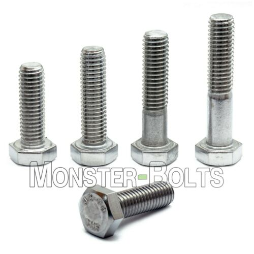 M6 Hex Cap Bolts / Screws, A2 Stainless Steel, 1.0 Coarse DIN 933 931 Tap 18-8