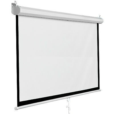 """119"""" Manual Motorised HD TV Projector Screen Home Theatre Projection 1:1"""