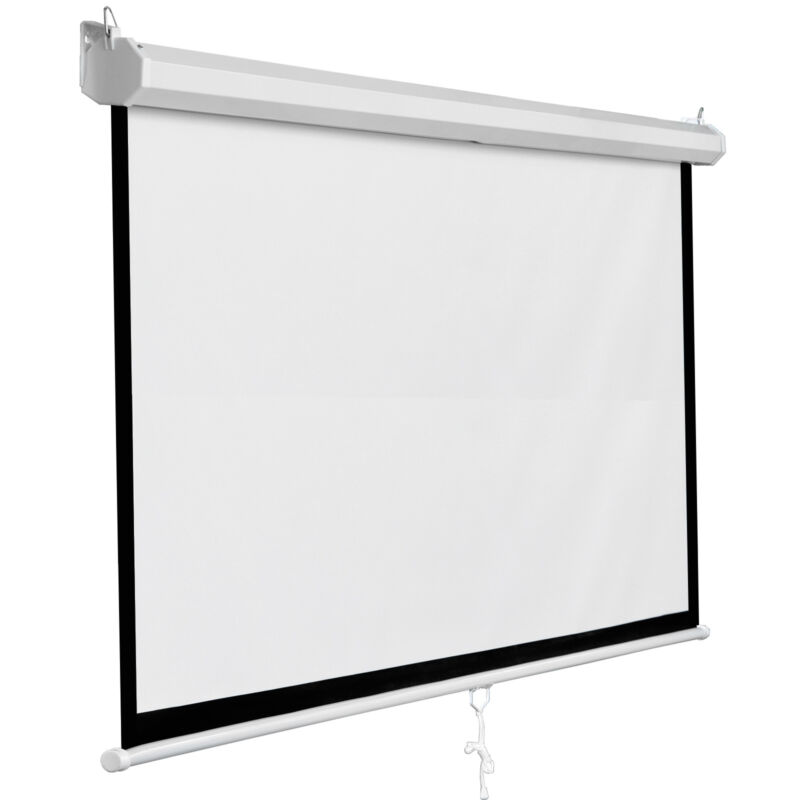 "119"" Manual Pull Down Projector Projection Screen Home Theater Movie 84""x84"""