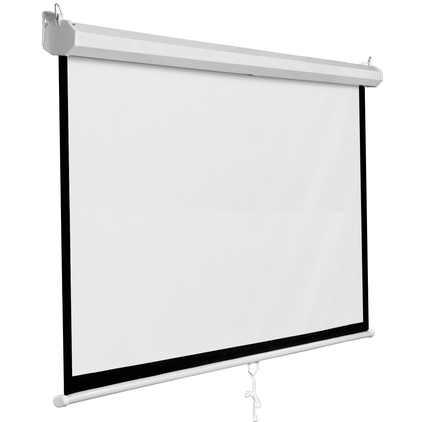 119″ Manual Pull Down Projector Projection Screen Home Theater Movie 84″x84″ Consumer Electronics