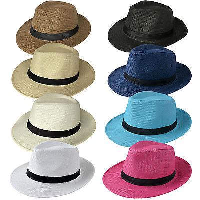 Panama Hut Gr. 58 Strohhut Trilby Hut Gartenhut Hüte Sommerhut Herren Damen