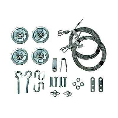 (Garage Door Extension Spring Pulley Sheave Kit +SAFETY CABLES & INSTRUCTIONS)