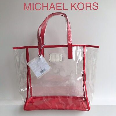 💛💜❤️MICHAEL KORS TOTE BAG CLEAR SHOPPER BEACH BAG Free Delivery ❤️❤️❤️