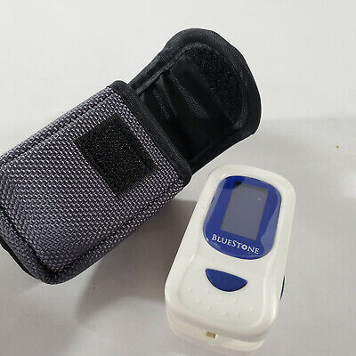 Finger Pulse Oximeter Heart Rate Monitor Bluestone Wcarrying Case Lanyard